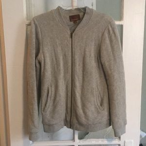 Quilted sweatshirt jacket